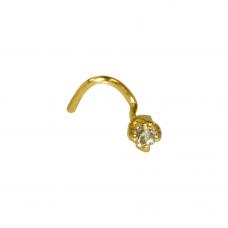 Piercing de Nariz em Ouro Amarelo 18K com Brilhante