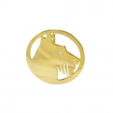 Pingente em Ouro Amarelo 18K Cachorro com Zircônia