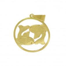 Pingente em Ouro Amarelo 18K Signo de Peixes